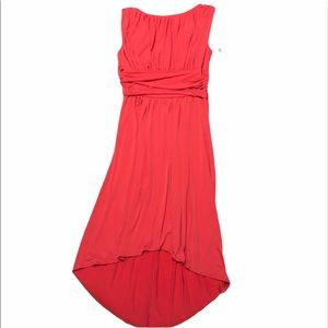 NWT AA Studio dress coral size 16 high low